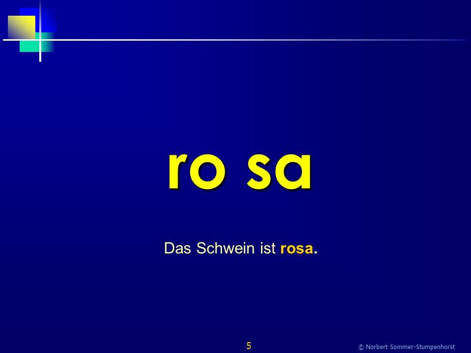 5 © Norbert Sommer-Stumpenhorst ro sa Das Schwein ist rosa.