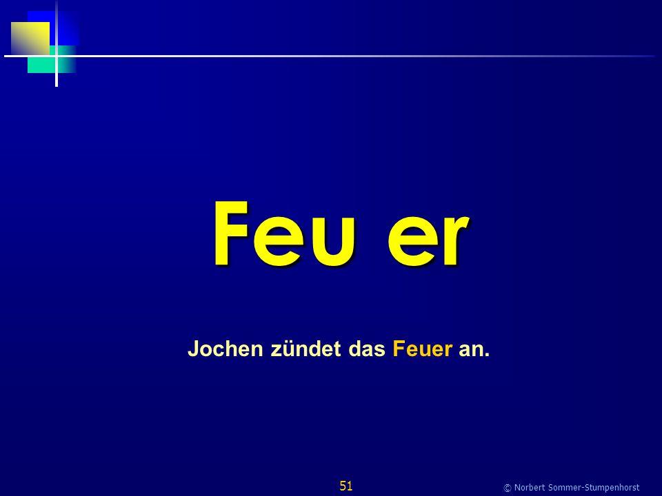 51 © Norbert Sommer-Stumpenhorst Feu er Jochen zündet das Feuer an.