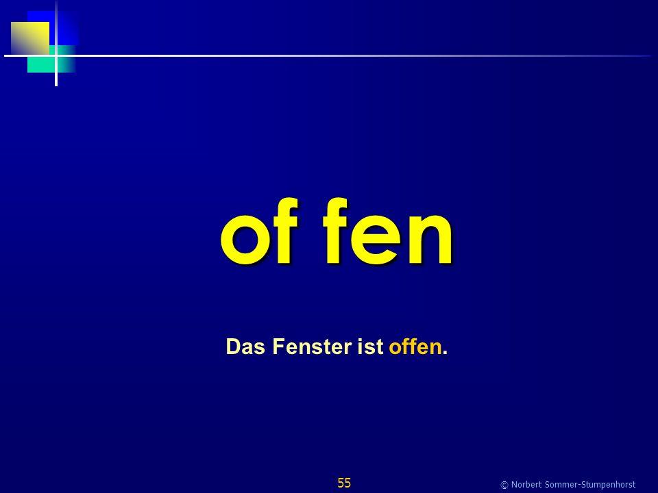 55 © Norbert Sommer-Stumpenhorst of fen Das Fenster ist offen.