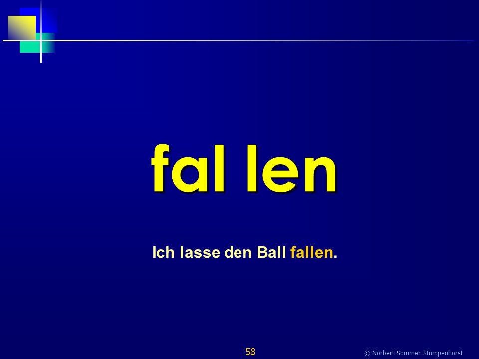 58 © Norbert Sommer-Stumpenhorst fal len Ich lasse den Ball fallen.