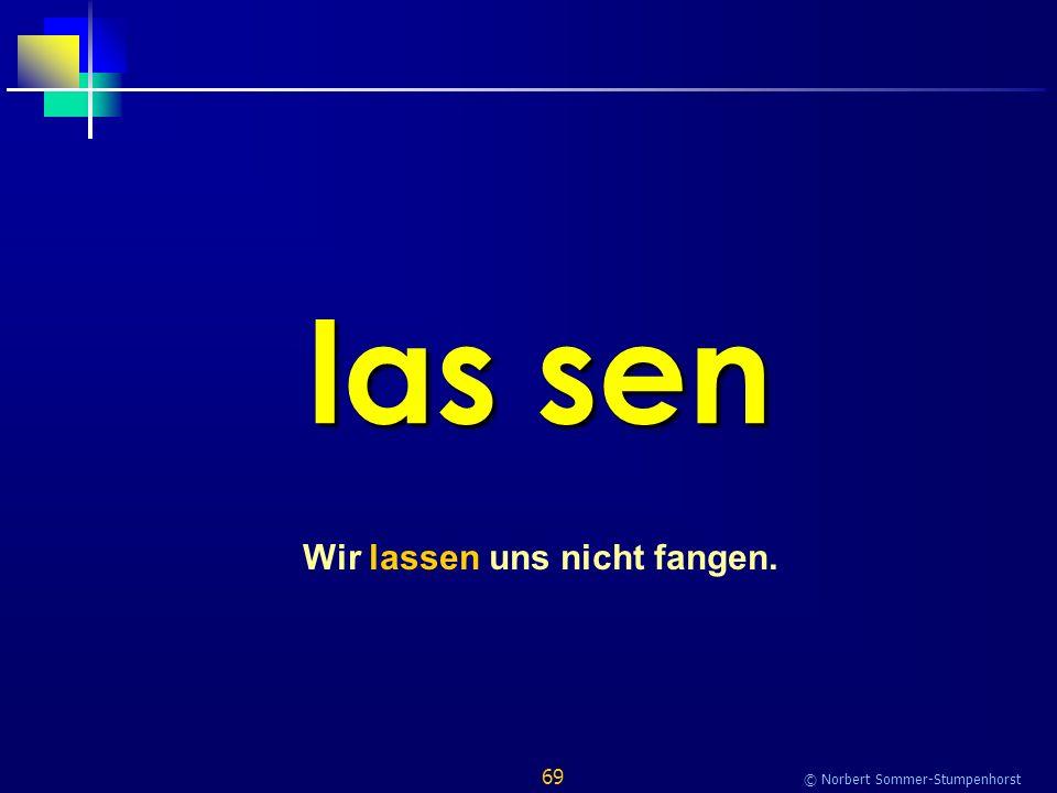 69 © Norbert Sommer-Stumpenhorst las sen Wir lassen uns nicht fangen.