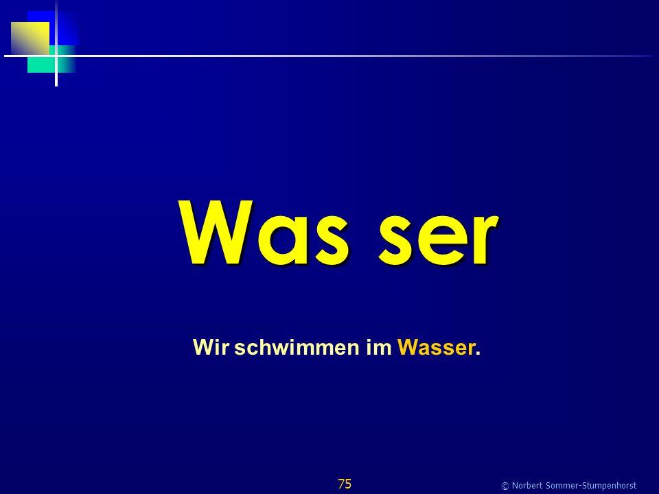 75 © Norbert Sommer-Stumpenhorst Was ser Wir schwimmen im Wasser.
