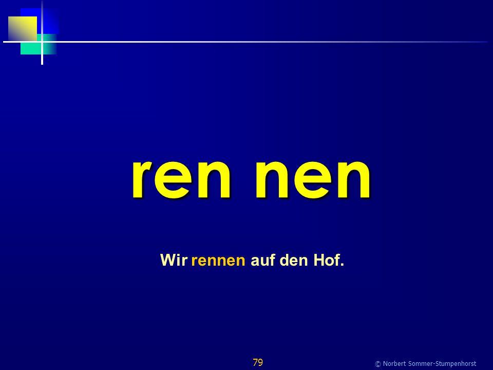 79 © Norbert Sommer-Stumpenhorst ren nen Wir rennen auf den Hof.