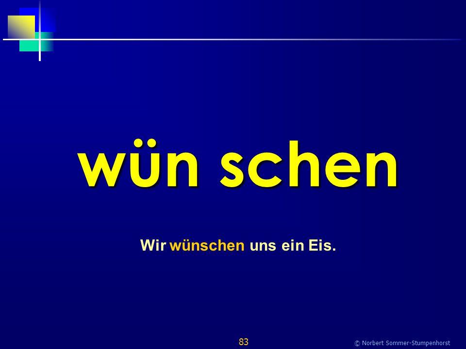 83 © Norbert Sommer-Stumpenhorst wün schen Wir wünschen uns ein Eis.