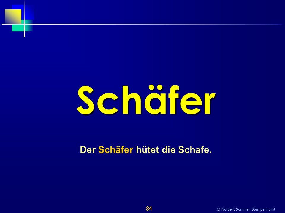 84 © Norbert Sommer-Stumpenhorst Schäfer Der Schäfer hütet die Schafe.