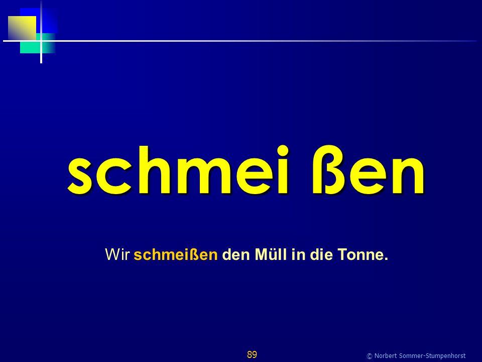 89 © Norbert Sommer-Stumpenhorst schmei ßen Wir schmeißen den Müll in die Tonne.