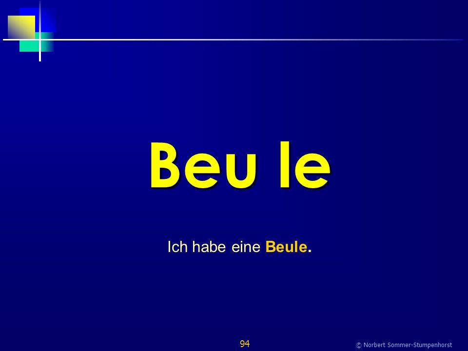 94 © Norbert Sommer-Stumpenhorst Beu le Ich habe eine Beule.