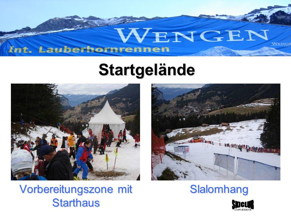 STAPO ZUERICH Startgelände Slalomhang Vorbereitungszone mit Starthaus