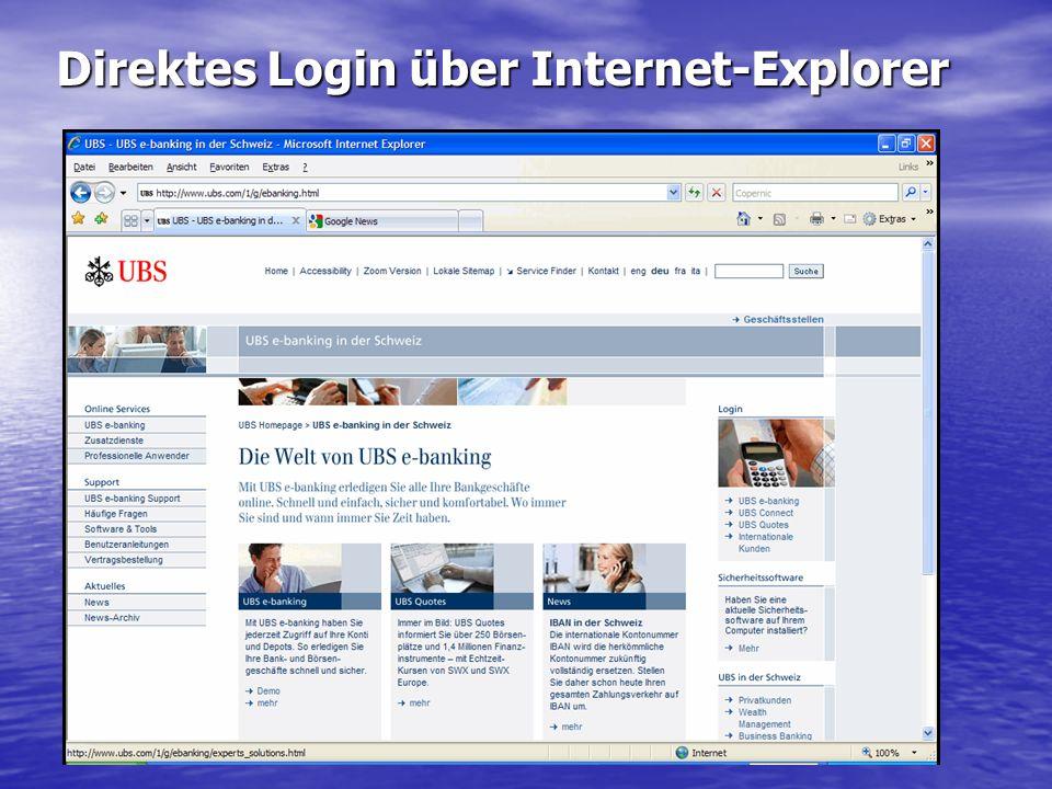 Direktes Login über Internet-Explorer