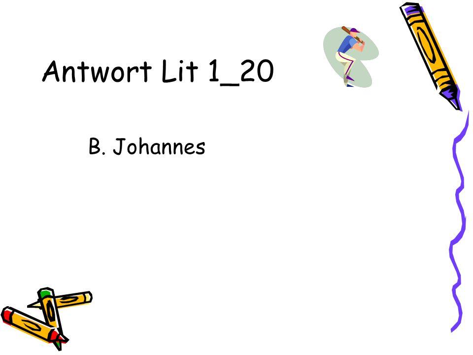Antwort Lit 1_20 B. Johannes