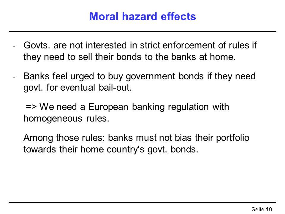 Seite 10 Moral hazard effects - Govts.