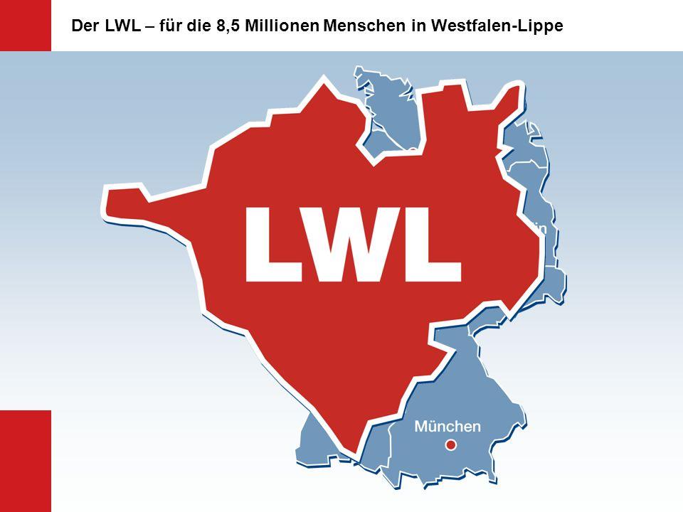 Erträge des LWL-Haushalts Landschaftsumlage 1.549,9 Mio.