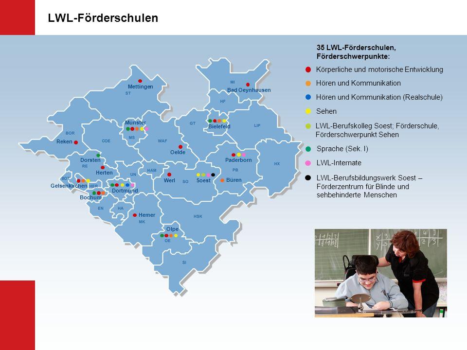 LWL-Förderschulen 35 LWL-Förderschulen, Förderschwerpunkte: LWL-Berufsbildungswerk Soest – Förderzentrum für Blinde und sehbehinderte Menschen Hören u