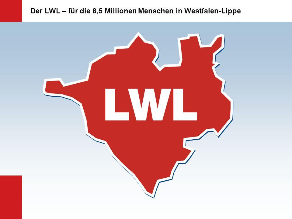 Aufwendungen des LWL-Haushalts Eingliederungshilfe für Kinder und Erwachsene mit Behinderung 1.615,3 Mio.