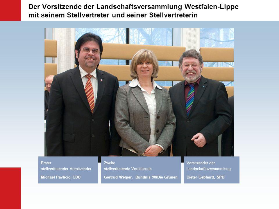 Der Vorsitzende der Landschaftsversammlung Westfalen-Lippe mit seinem Stellvertreter und seiner Stellvertreterin Vorsitzender der Landschaftsversammlu
