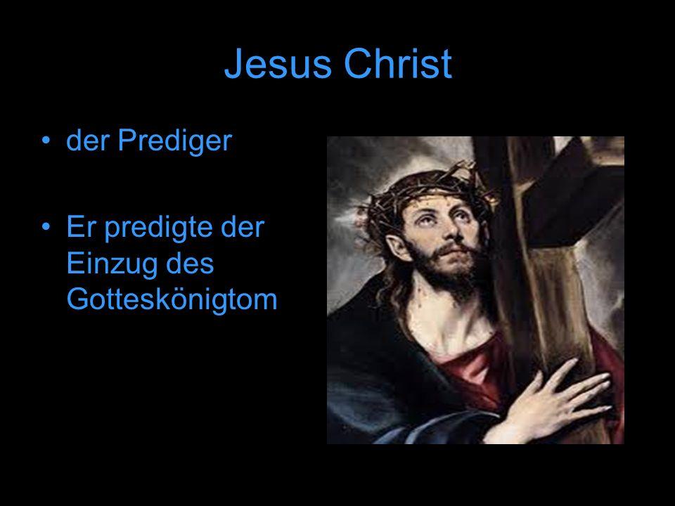 der Prediger Er predigte der Einzug des Gotteskönigtom