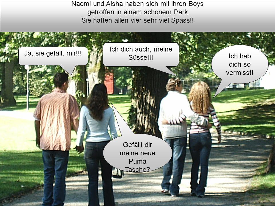 Naomi und Aisha haben sich mit ihren Boys getroffen in einem schönem Park. Sie hatten allen vier sehr viel Spass!! Ich hab dich so vermisst! Gefällt d
