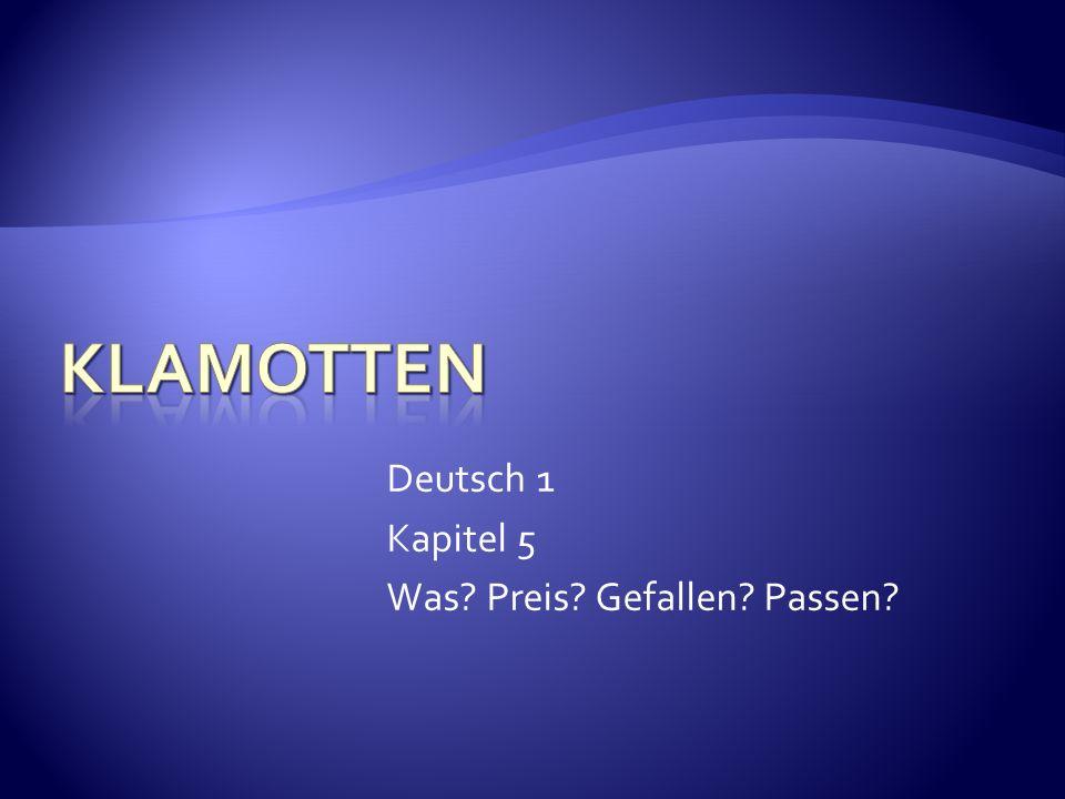 Deutsch 1 Kapitel 5 Was? Preis? Gefallen? Passen?