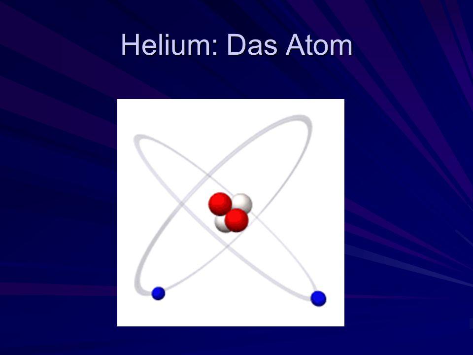4 He & 3 He – der kleine Unterschied Isotope 4 He - Kern 2 Protonen + 2 Neutronen 3 He - Kern 2 Protonen + 1 Neutron np pn p p n