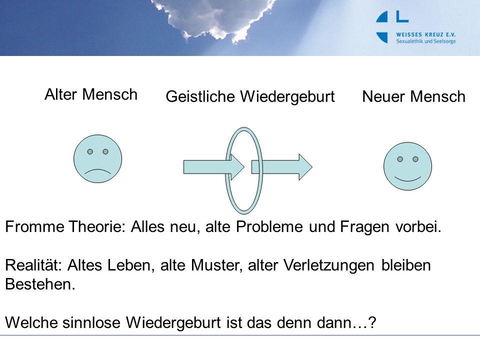 Alter MenschGeistliche WiedergeburtNeuer Mensch Fromme Theorie: Alles neu, alte Probleme und Fragen vorbei.