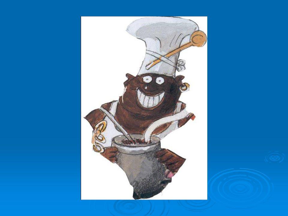 der Schiffskoch Man nennt ihn auch Smutje.Er arbeitet in der Kombüse, das ist die Schiffsküche.