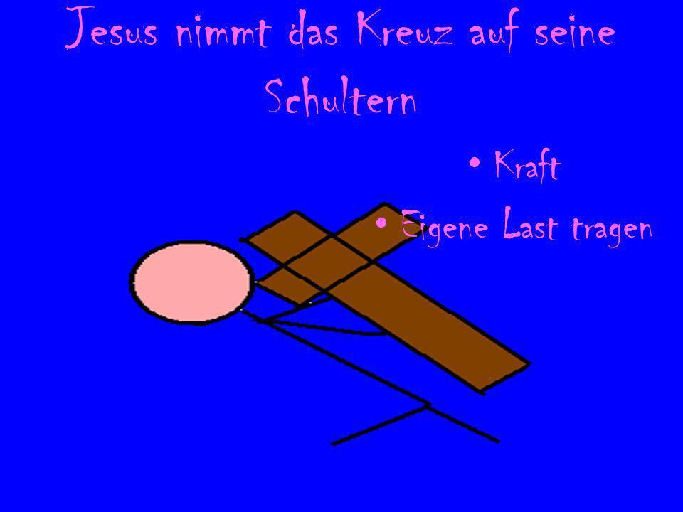Jesus fällt zum 1. Mal unter der Last des Kreuzes Eigenverantwort ung Große Last Tiefen im Leben