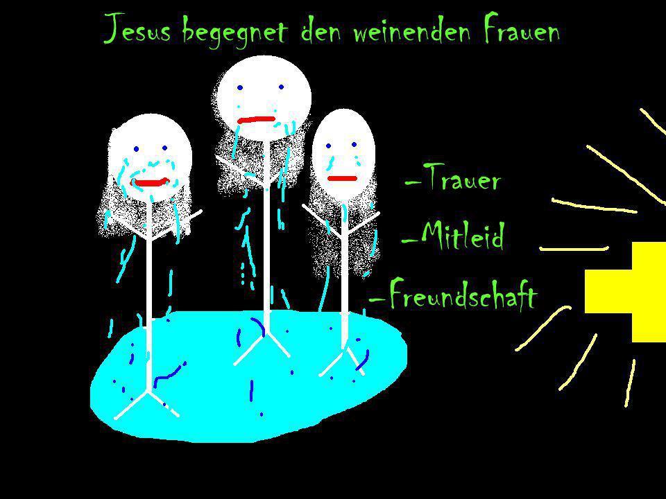 Jesus fällt zum 3. Mal unter der Last des Kreuzes Erschöpfung Keine Freunde
