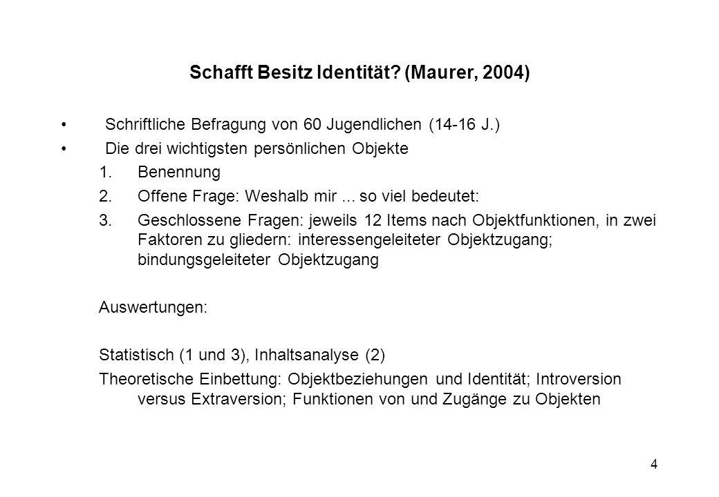 15 Was für deutsche Kinder und Jugendliche in und out ist Was für deutsche Kinder und Jugendliche in und out ist (Zinnecker et al.