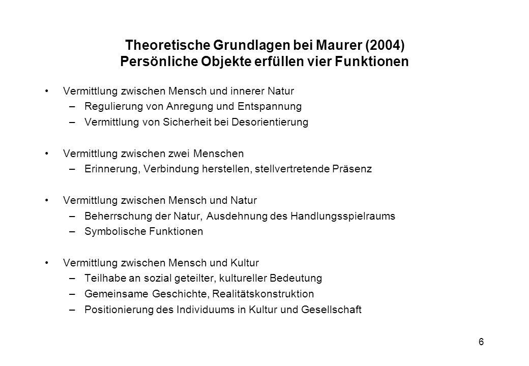 17 Grundthesen: Literaturstudie von Hans Dieter Erlinger: (1996) Kinder und (Fernseh-) Werbung Grundthesen: 1.Wie jeder Programmteil ist auch Fernsehwerbung eingebunden in den Programmfluss und wird als Teil des Gesamtprogramms wahrgenommen.