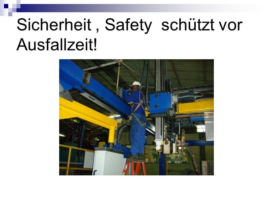 Sicherheit, Safety schützt vor Ausfallzeit!