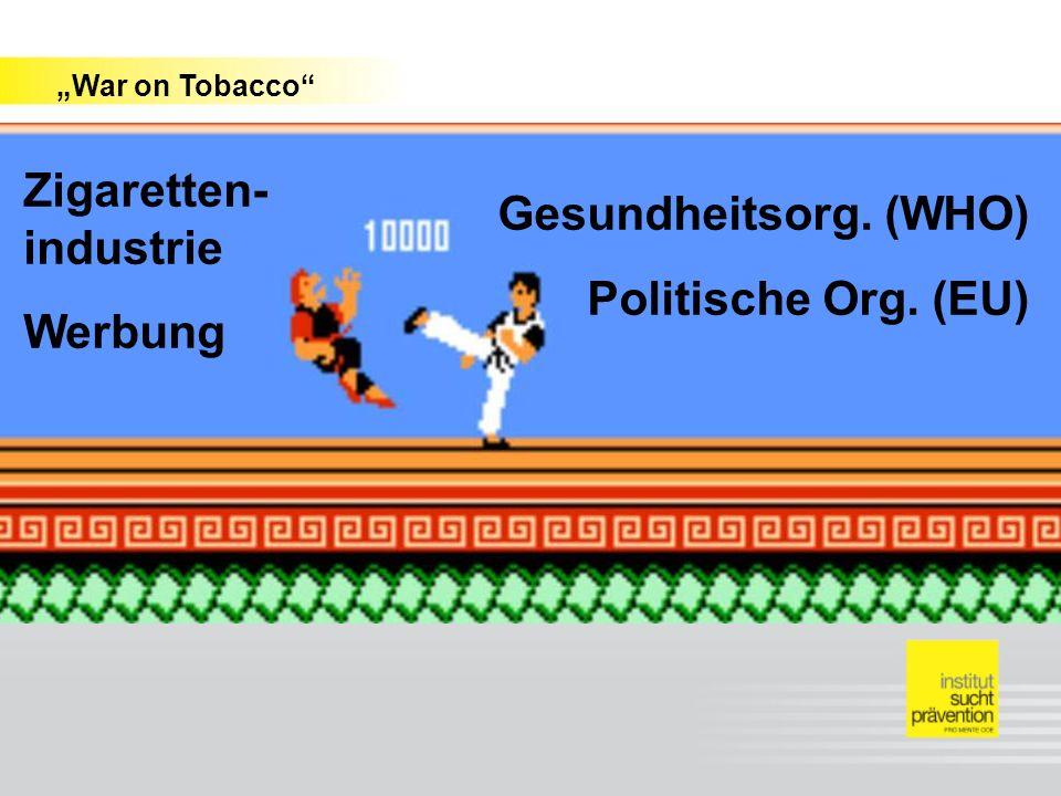 Fehlinformation über schädliche Wirkungen des Rauchens Undeklarierte Zusatzstoffe (Geschmacksaromen, Suchtverstärker) Irreführende Bezeichnungen (Light) Technische Tricks (Angabe zu niedriger Schadstoffwerte auf den Packungen) Kleinpackungen, Gratispackungen Weitere Versuche, Kunden zu gewinnen