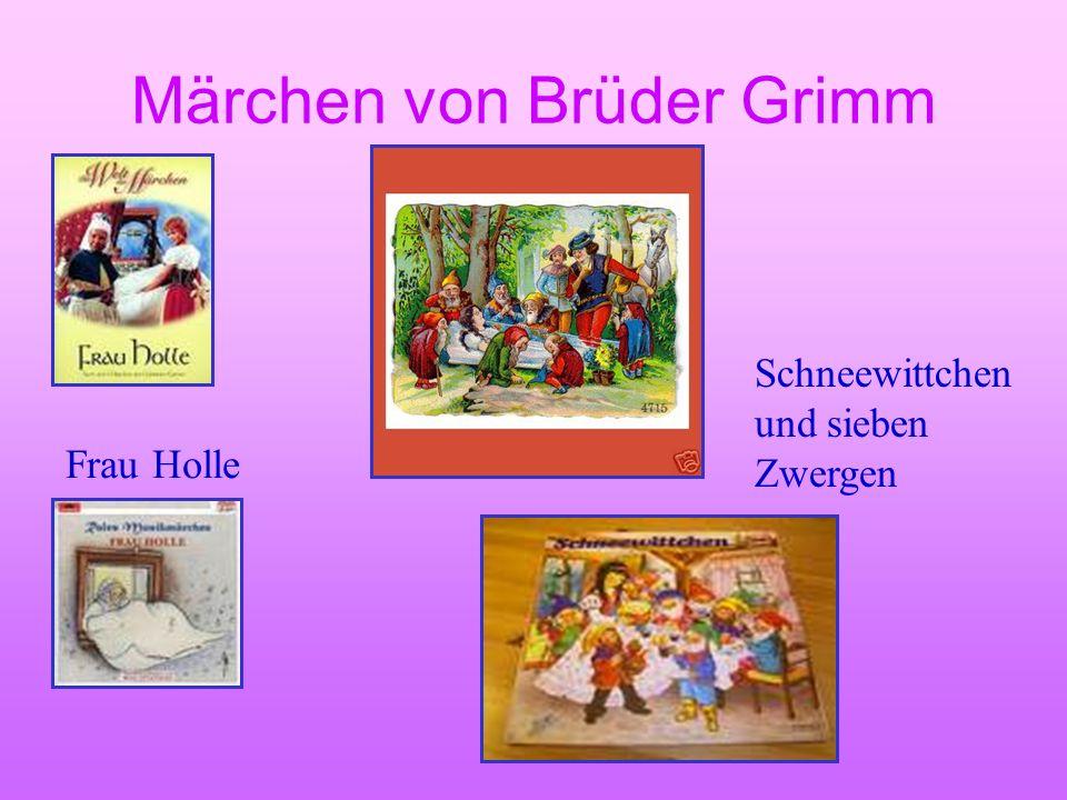 Märchen von Brüder Grimm Dornröschen Schneewittchen und Zwergen Märchen über die Tiere