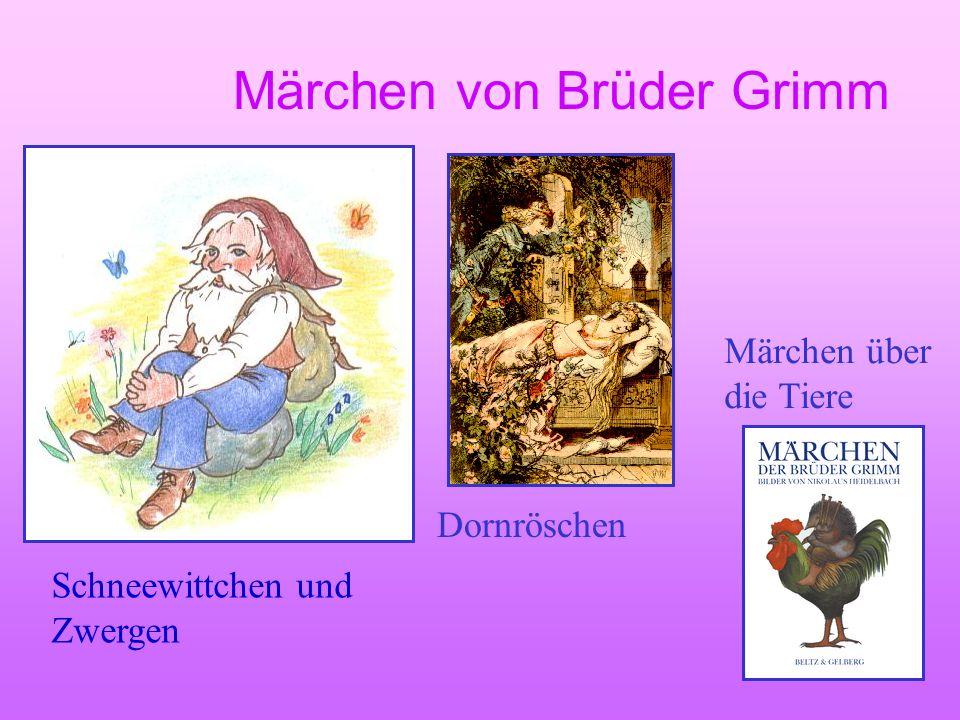 Märchen von Brüder Grimm Der Froschkönig Dornröschen