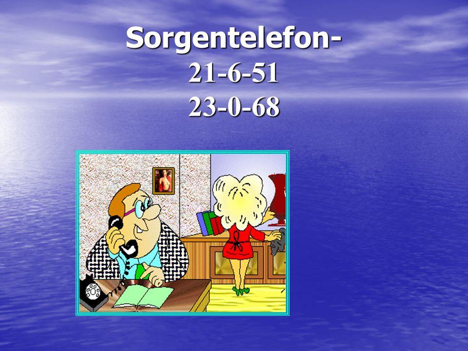 Sorgentelefon- 21-6-51 23-0-68