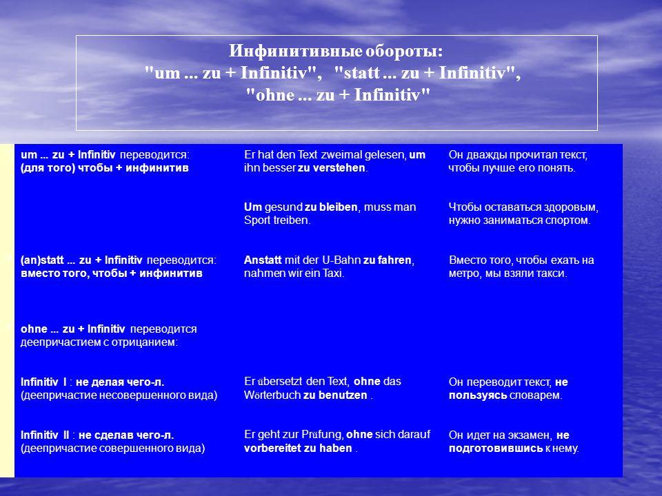 http://www.grammade.ru Инфинитивные обороты: um...