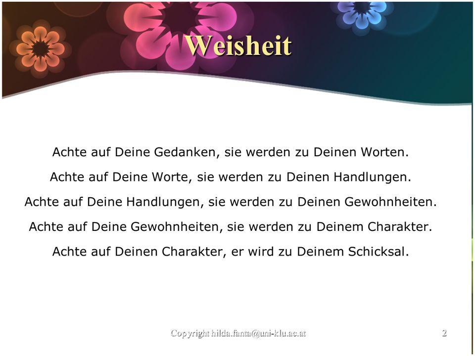 Weisheit 2