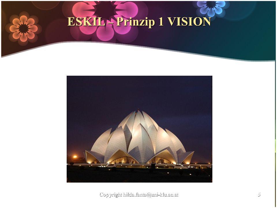 ESKIL – Prinzip 1 VISION Copyright hilda.fanta@uni-klu.ac.at5