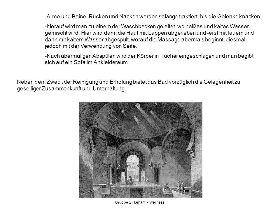 Gruppe 2 Hamam - Wellness Die Einrichtung Der Auskleide und Ruheraum (türk.