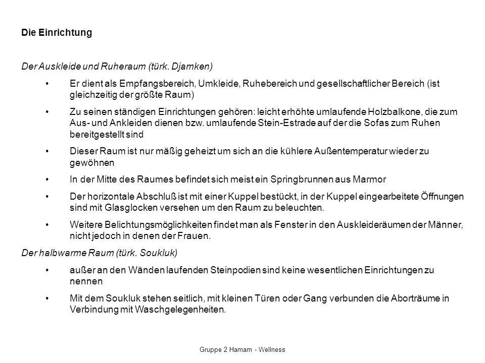 Gruppe 2 Hamam - Wellness Der Warmraum (türk.
