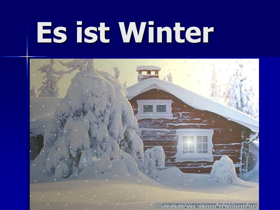 Winterlied Winter kommt.Winter kommt. Winter kommt.