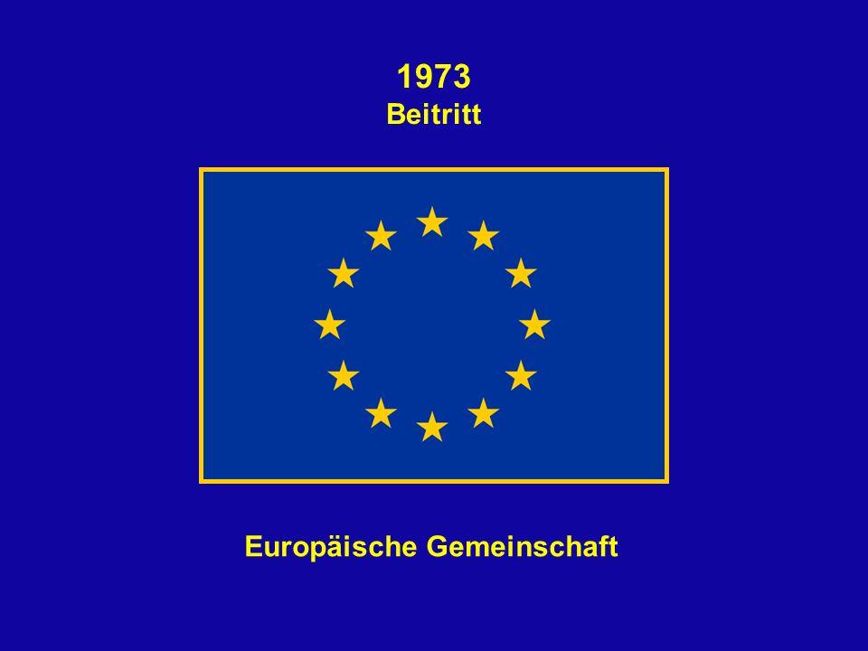 1973 Beitritt Europäische Gemeinschaft