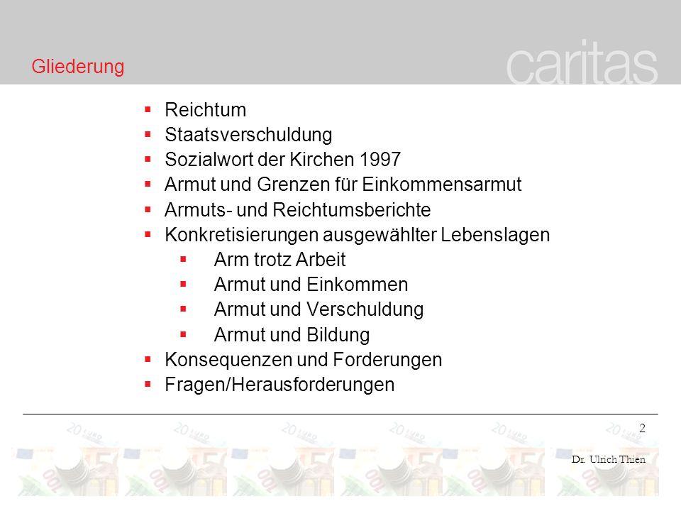 23 Dr.Ulrich Thien Kosten und Entwicklung der Arbeitslosigkeit ca.