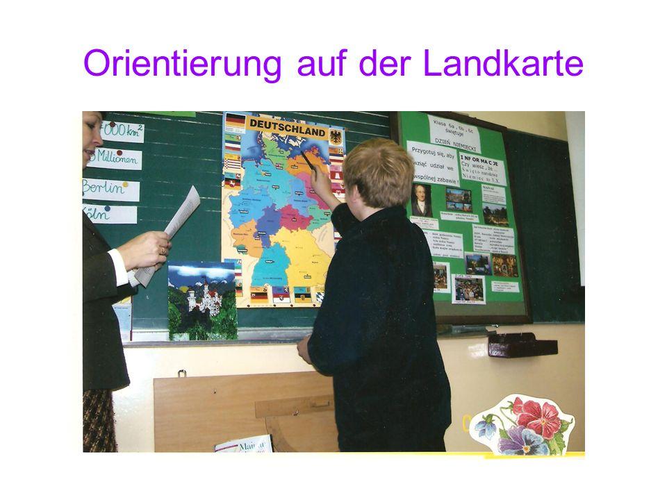 Orientierung auf der Landkarte