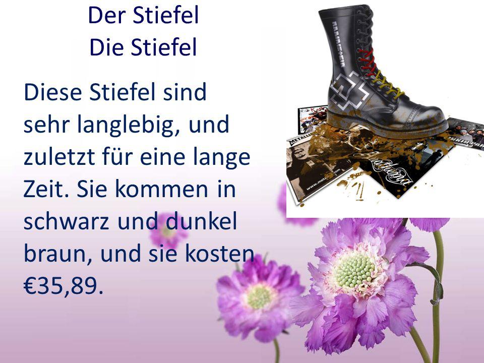 Der Stiefel Die Stiefel Diese Stiefel sind sehr langlebig, und zuletzt für eine lange Zeit. Sie kommen in schwarz und dunkel braun, und sie kosten35,8