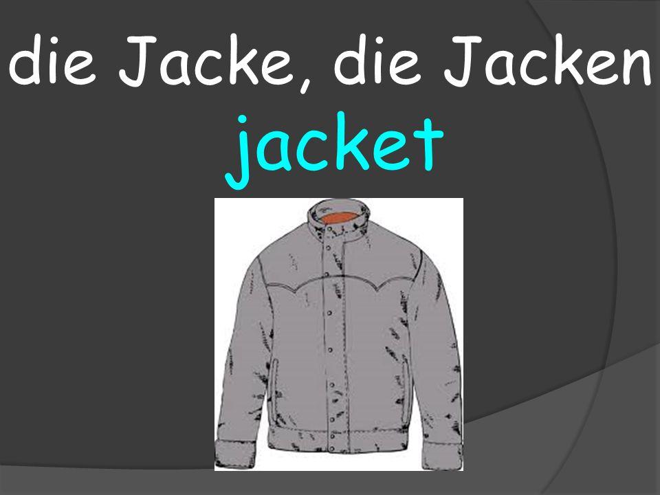 jacket die Jacke, die Jacken