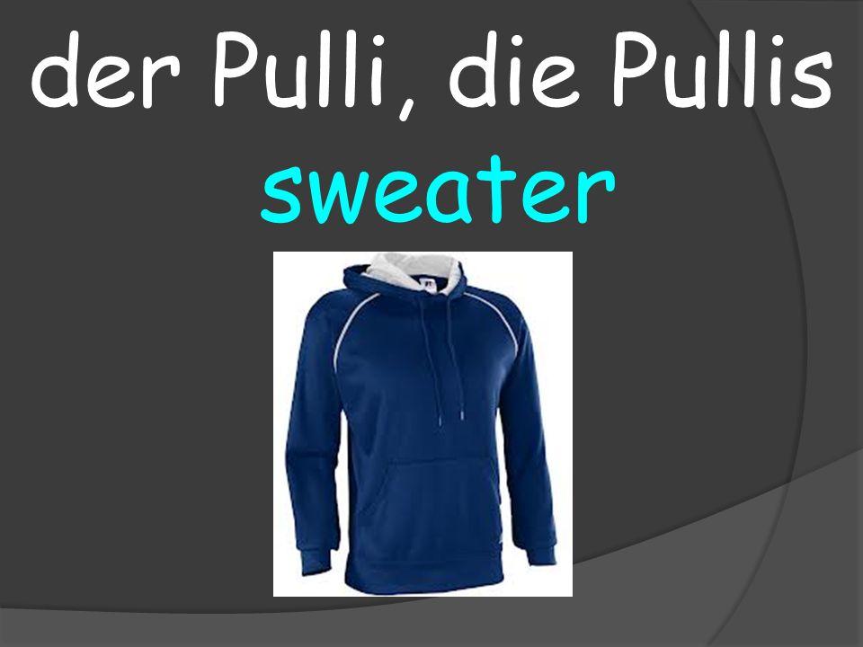 sweater der Pulli, die Pullis