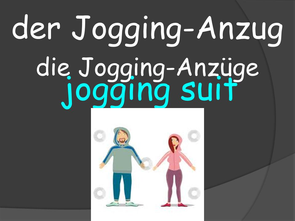 jogging suit der Jogging-Anzug die Jogging-Anzüge