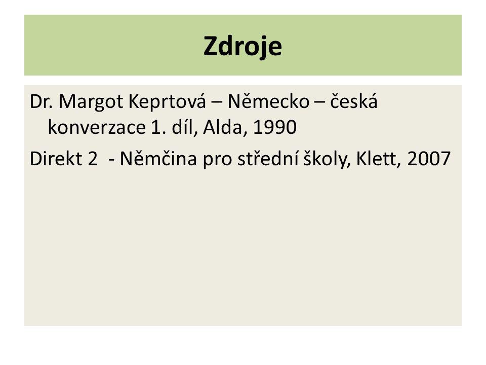 Zdroje Dr.Margot Keprtová – Německo – česká konverzace 1.