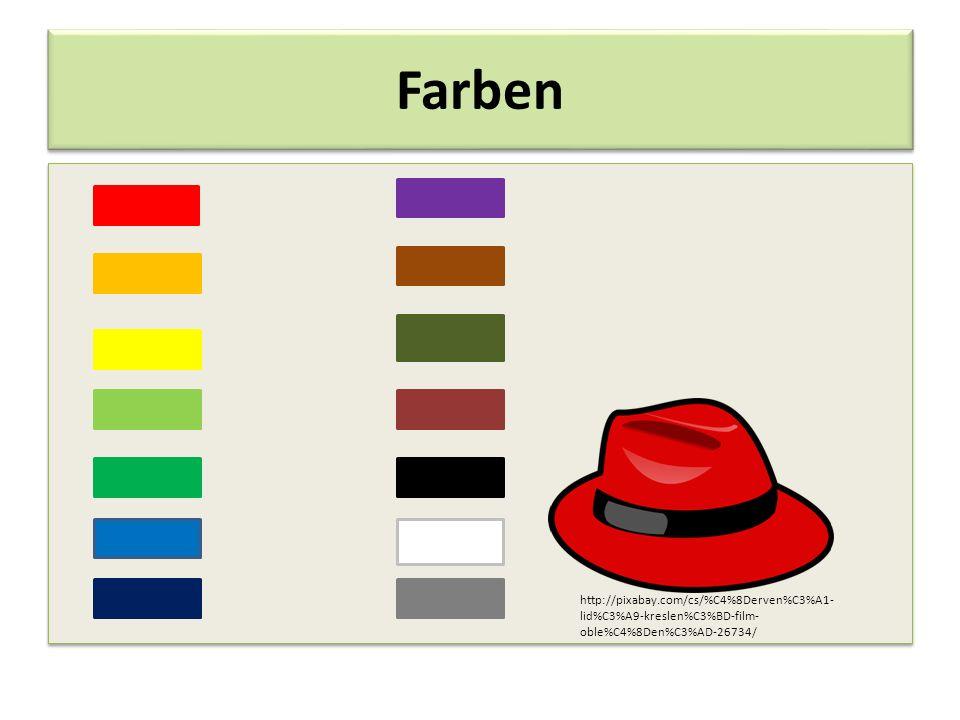 Farben http://pixabay.com/cs/%C4%8Derven%C3%A1- lid%C3%A9-kreslen%C3%BD-film- oble%C4%8Den%C3%AD-26734/