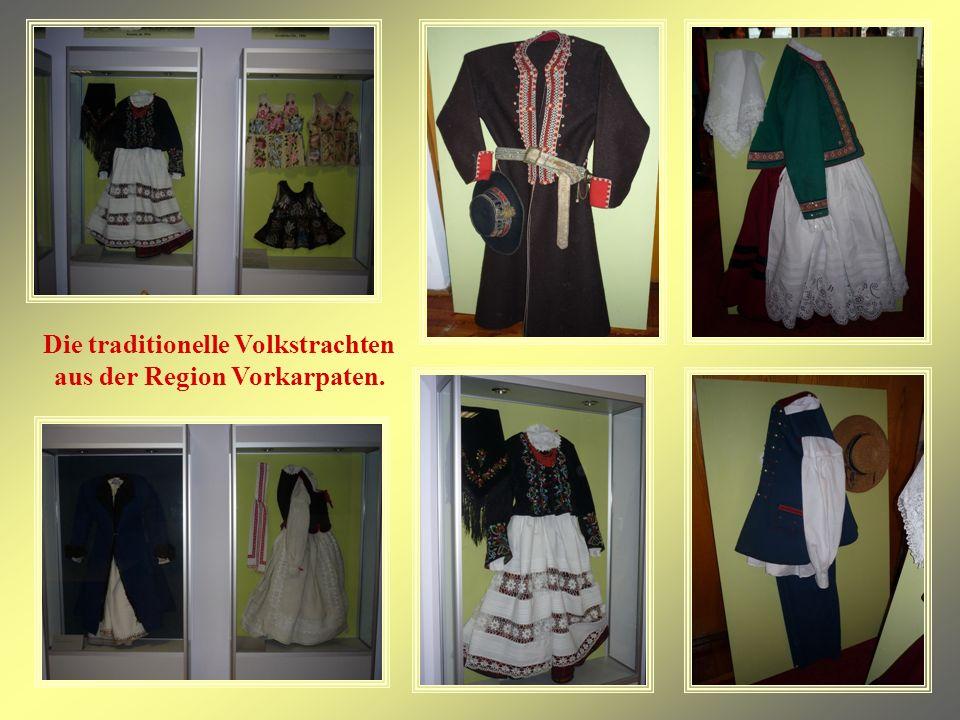 Die traditionelle Volkstrachten aus der Region Vorkarpaten.